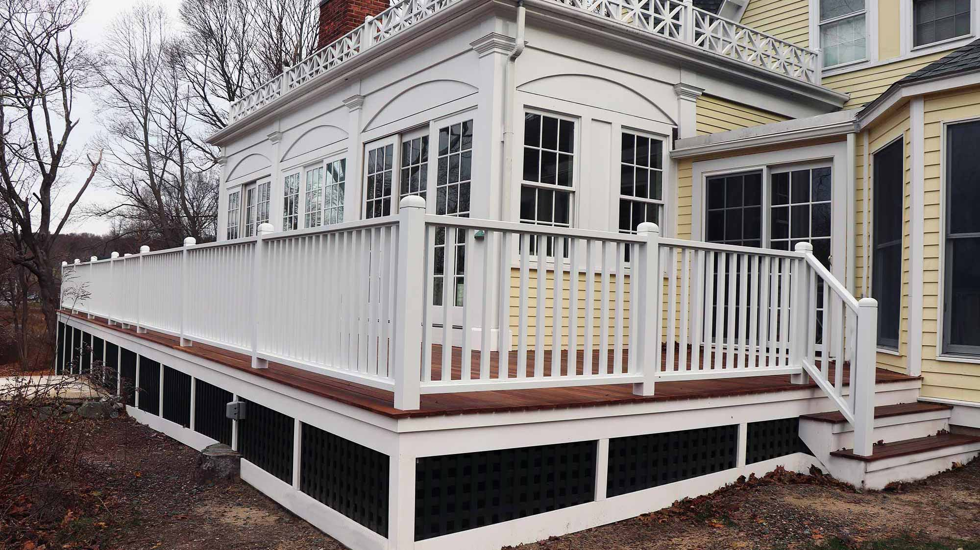 Here is a corner view of the expanded deck in Ipswich.