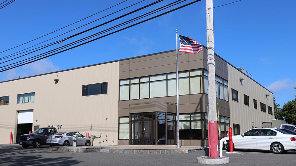 Here is a view of the main entrance to Bomco's corporate office.