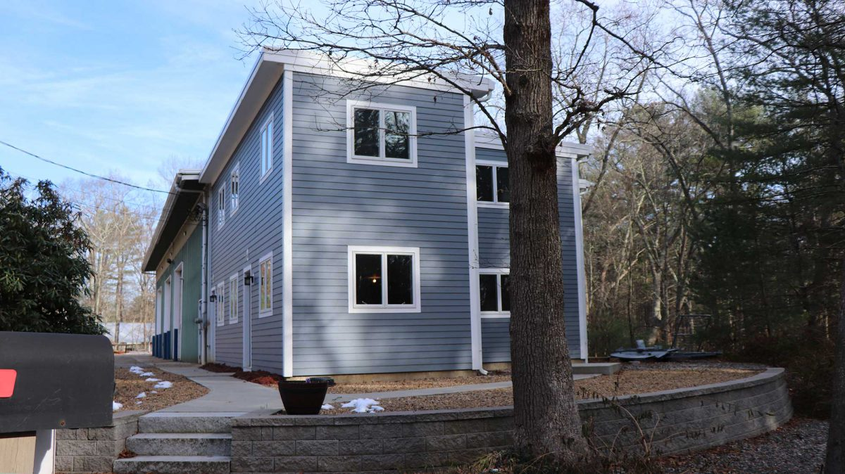 An exterior view of the addition at First Fabricators.